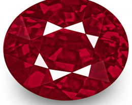 GRS & IGI Certified Mozambique Ruby, 2.01 Carats, Rich Vivid Pinkish Red