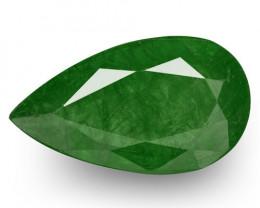 IGI Certified Zambia Emerald, 10.13 Carats, Deep Green Pear