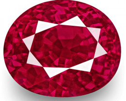 GRS & IGI Certified Mozambique Ruby, 2.01 Carats, Oval