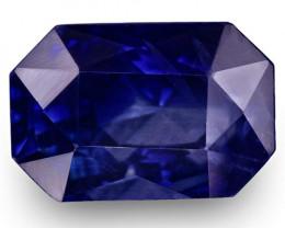 GIA & IGI Certified Kashmir Blue Sapphire, 5.26 Carats, Emerald Cut