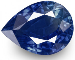 GRS Certified Sri Lanka Blue Sapphire, 1.25 Carats, Cornflower Blue Pear
