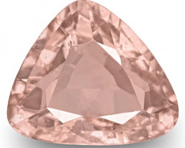 GRS Certified Madagascar Padparadscha Sapphire, 1.23 Carats, Triangular