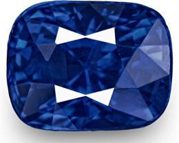 GRS Certified Sri Lanka Blue Sapphire, 1.18 Carats, Rich Intense Royal Blue