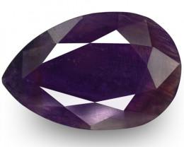 GII Certified Pakistan Fancy Sapphire, 6.84 Carats, Deep Bluish Purple Pear