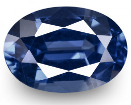 GRS Certified Sri Lanka Blue Sapphire, 1.51 Carats, Deep Blue Oval