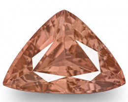GRS Certified Madagascar Padparadscha Sapphire, 1.29 Carats, Triangular