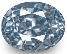 IGI Certified Sri Lanka Blue Sapphire, 3.98 Carats, Lustrous Violetish Blue