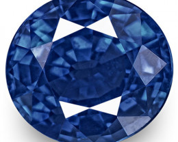 GRS Certified Sri Lanka Blue Sapphire, 1.28 Carats, Vivid Cornflower Blue