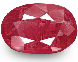 IGI Certified Burma Ruby, 1.85 Carats, Pinkish Red Oval