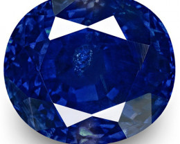 SSEF, GIA & GRS Certified Kashmir Blue Sapphire, 5.78 Carats, Oval