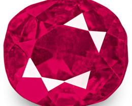 IGI Certified Burma Ruby, 1.20 Carats, Lustrous Pinkish Red Cushion