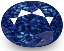 GRS Certified Sri Lanka Blue Sapphire, 1.17 Carats, Fiery Royal Blue Oval