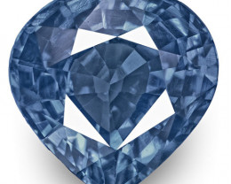 IGI Certified Madagascar Blue Sapphire, 2.04 Carats, Lustrous Intense Blue