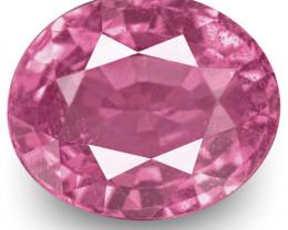 IGI Certified Madagascar Pink Sapphire, 1.54 Carats, Lively Bubblegum Pink