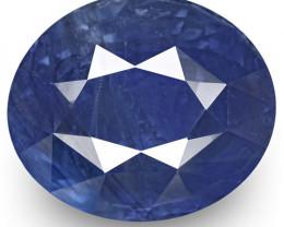 IGI Certified Kashmir Blue Sapphire, 7.71 Carats, Cornflower Blue Oval