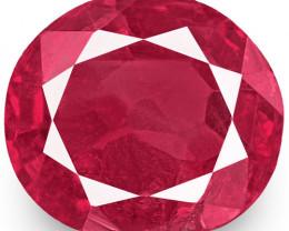 IGI Certified Burma Ruby, 0.59 Carats, Pinkish Red Oval