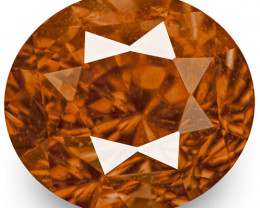 IGI Certified Madagascar Padparadscha Sapphire, 1.60 Carats, Oval