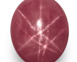 IGI Certified Vietnam Star Ruby, 7.51 Carats, Pinkish Red Oval