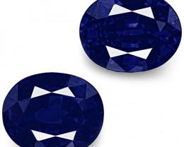 IGI Certified Nigeria Blue Sapphires, 1.07 Carats, Rich Velvety Royal Blue