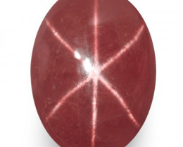 IGI Certified Vietnam Star Ruby, 6.32 Carats, Deep Pinkish Red Oval