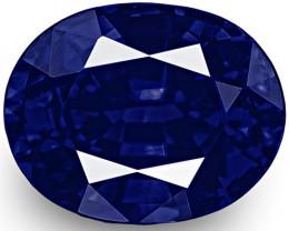 IGI Certified Nigeria Blue Sapphire, 0.59 Carats, Rich Velvety Royal Blue