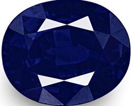 IGI Certified Nigeria Blue Sapphire, 0.48 Carats, Rich Velvety Royal Blue