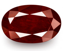 IGI Certified Madagascar Ruby, 2.77 Carats, Dark Pigeon Blood Red Oval