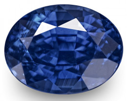 GRS Certified Sri Lanka Blue Sapphire, 1.37 Carats, Vivid Royal Blue Oval