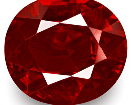 GRS Certified Madagascar Ruby, 2.03 Carats, Intense Pigeon Blood Red Oval