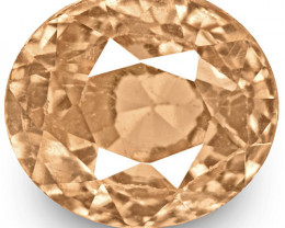 GRS Certified Sri Lanka Padparadscha Sapphire, 0.49 Carats, Oval