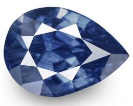 IGI Certified Burma Blue Sapphire, 1.00 Carats, Velvety Intense Blue Pear