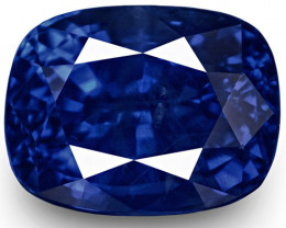 GRS & IGI Certified Burma Blue Sapphire, 2.38 Carats, Cushion