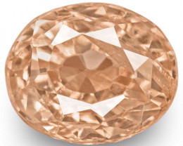 GRS Certified Madagascar Padparadscha Sapphire, 0.54 Carats, Oval