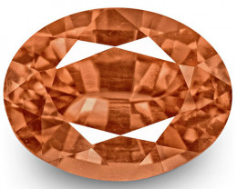 GRS Certified Madagascar Padparadscha Sapphire, 0.49 Carats, Oval