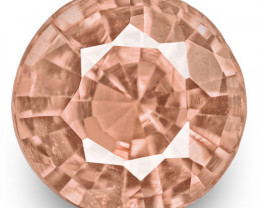 GRS Certified Madagascar Padparadscha Sapphire, 0.33 Carats, Round