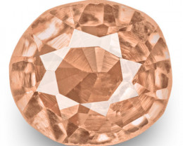 GRS Certified Madagascar Padparadscha Sapphire, 0.20 Carats, Orangy Pink