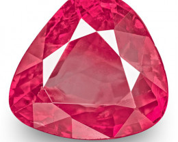 IGI Certified Burma Ruby, 1.97 Carats, Lively Pink Red (Colour Zoning)