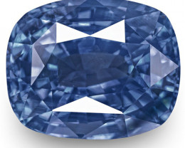 GRS Certified Sri Lanka Blue Sapphire, 7.85 Carats, Velvety Blue Cushion