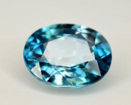 Vibrant Blue ~ 2.95 Ct Natural Zircon From Cambodia. RA1