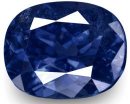 IGI Certified Burma Blue Sapphire, 1.12 Carats, Fiery Vivid Royal Blue