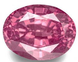 Madagascar Pink Sapphire, 0.81 Carats, Pink Oval