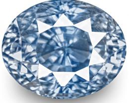 IGI Certified Burma Blue Sapphire, 2.80 Carats, Lustrous Blue Oval