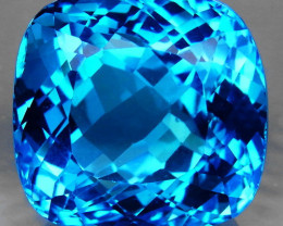73.56 ct. 100% Natural Swiss Blue Topaz Top Quality Gemstone Brazil