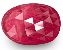IGI Certified Burma Ruby, 3.09 Carats, Rich Pinkish Red Oval