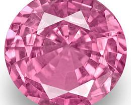 Madagascar Pink Sapphire, 0.55 Carats, Pink Round