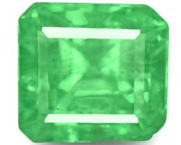 Colombia Emerald, 0.79 Carats, Green Emerald Cut