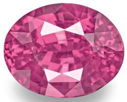 Madagascar Pink Sapphire, 2.01 Carats, Pink Oval