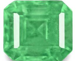 Colombia Emerald, 0.63 Carats, Green Emerald Cut