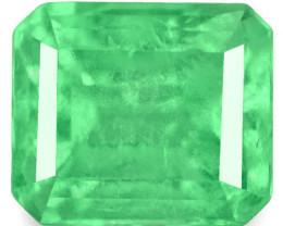 Colombia Emerald, 0.59 Carats, Green Emerald Cut