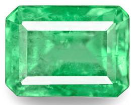Colombia Emerald, 1.46 Carats, Green Emerald Cut